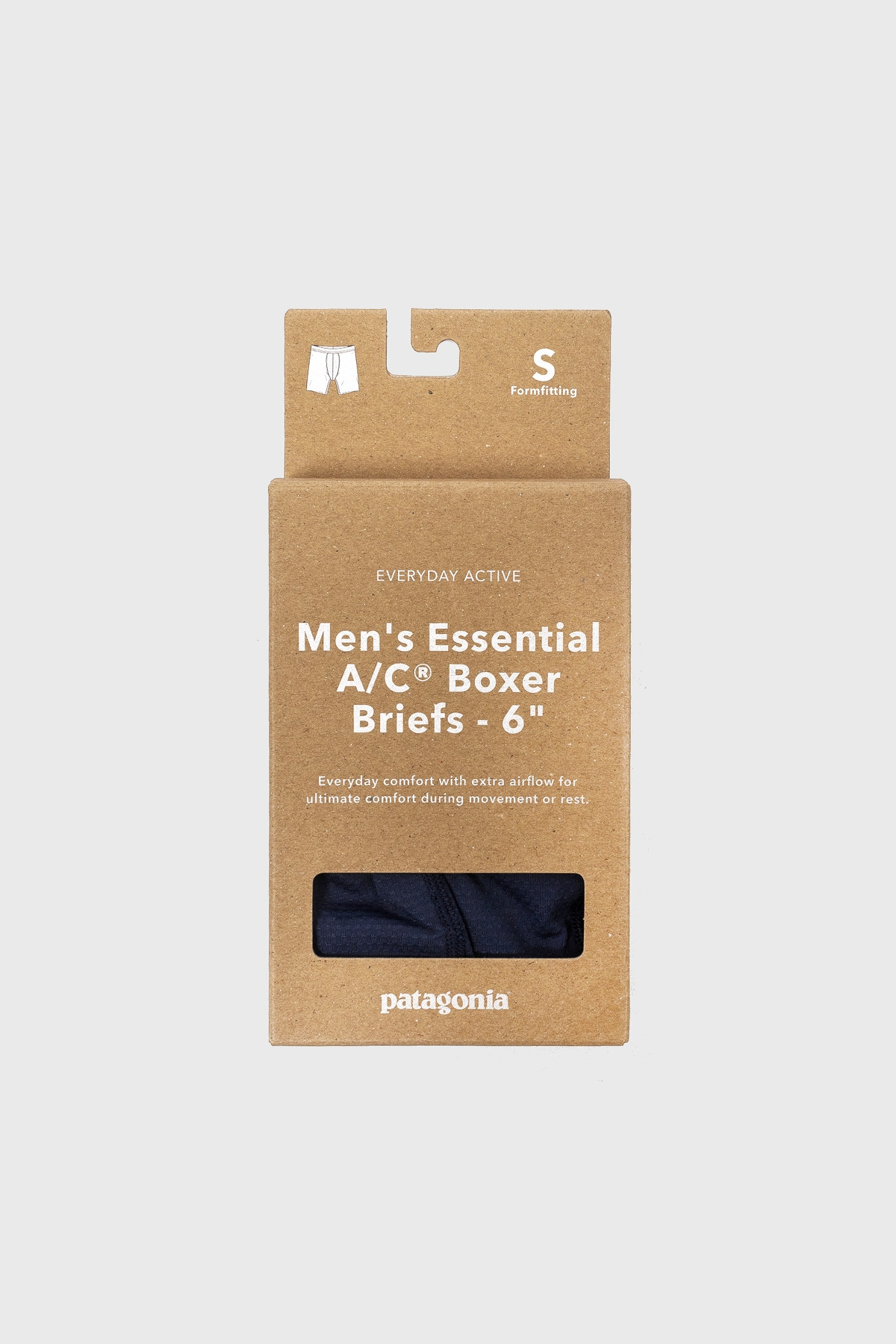 "patagonia - Men's Essential A/C® Boxer Briefs - 6"" - New navy"