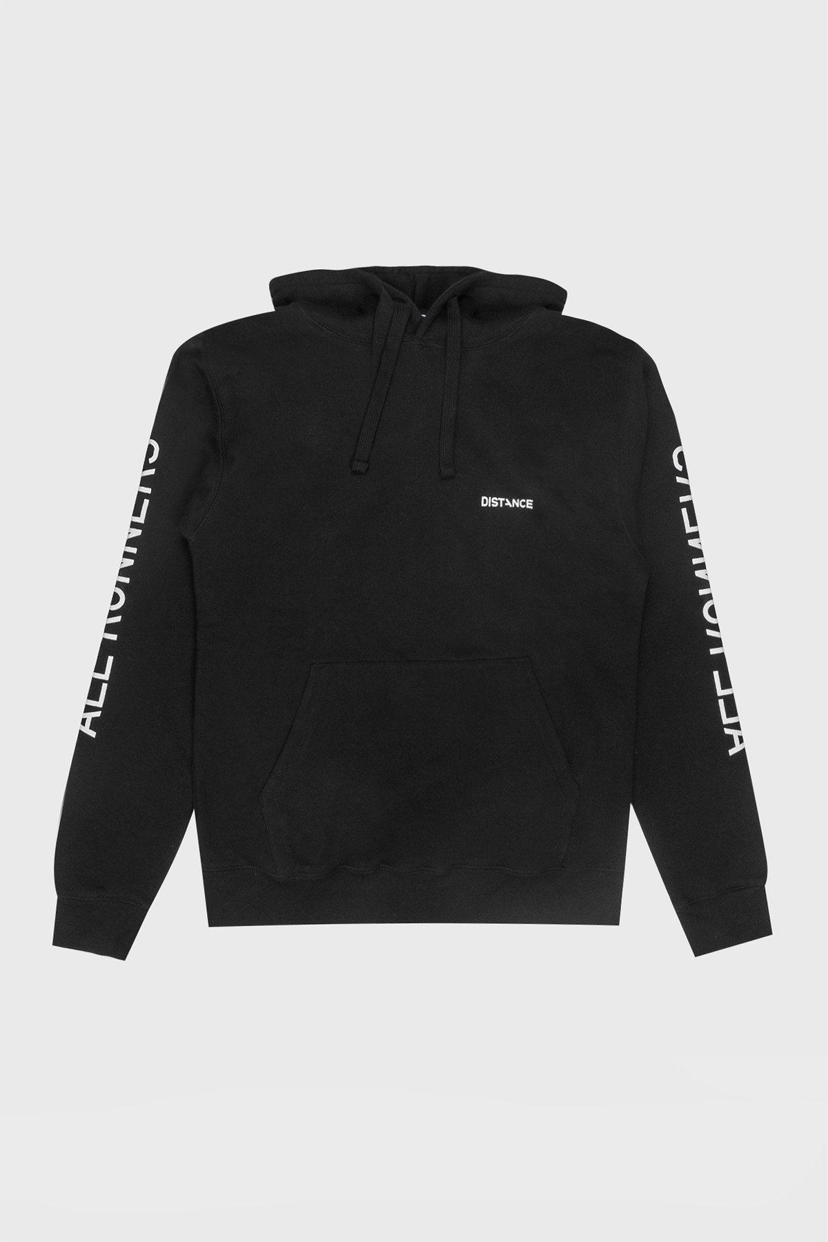 Distance - Classic Hoodie - Black white