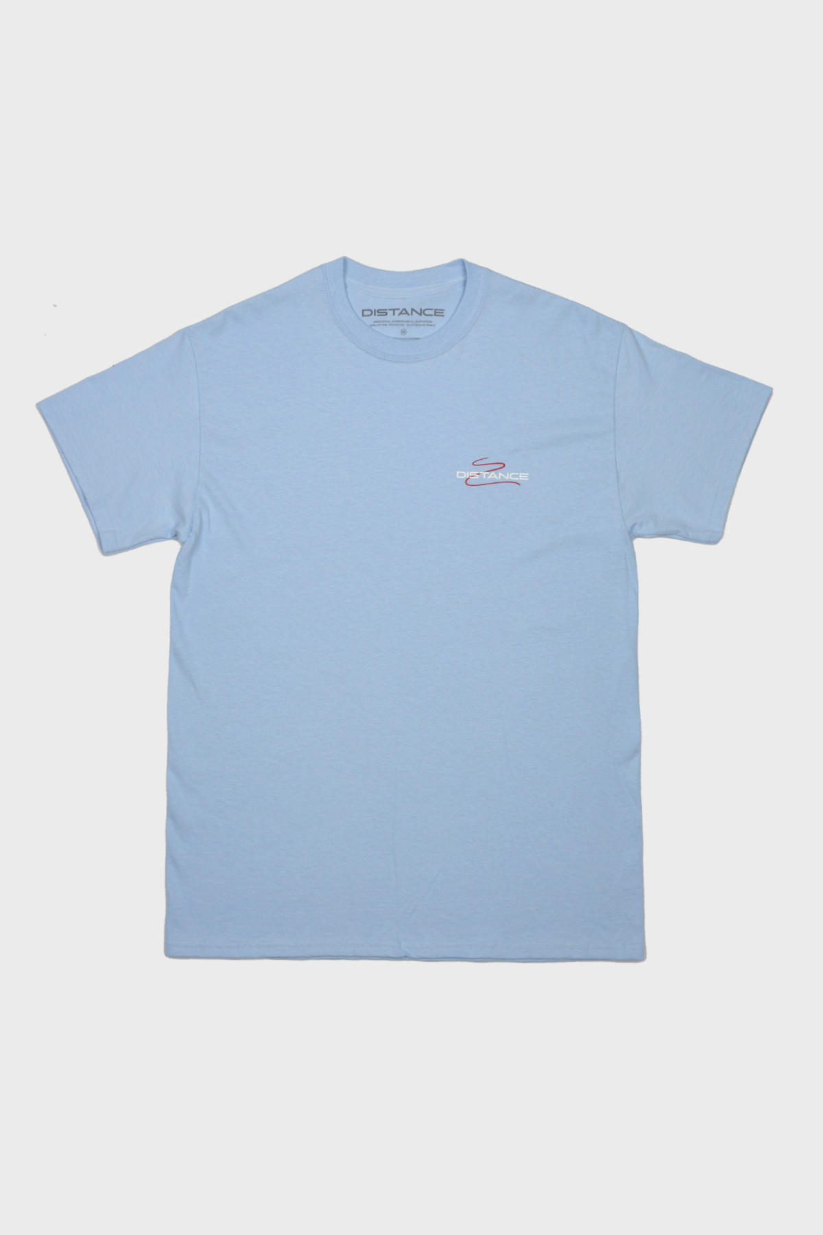 Distance - Squiggle Tee - Blue Red