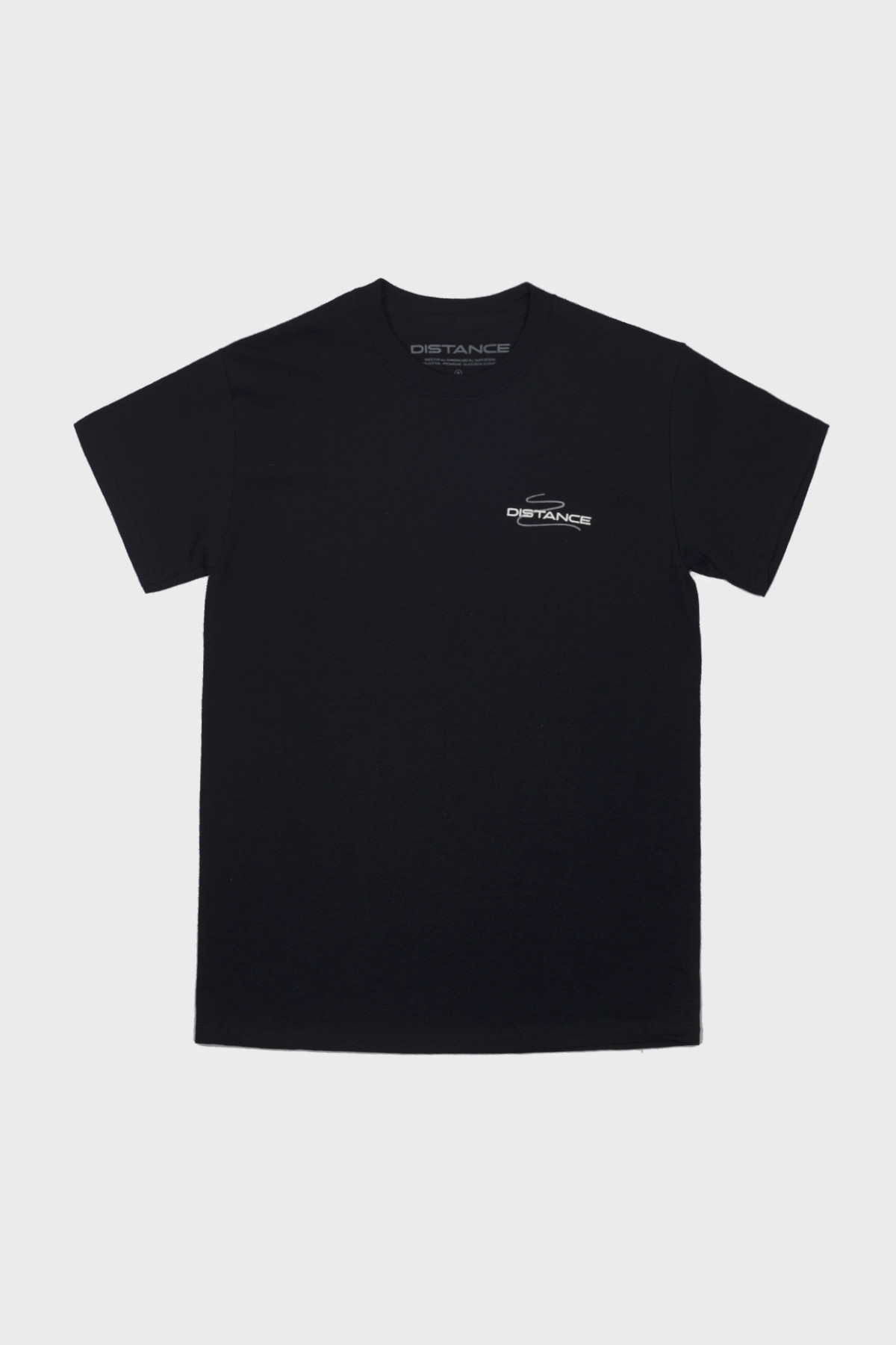 Distance - Squiggle Tee - Black Grey