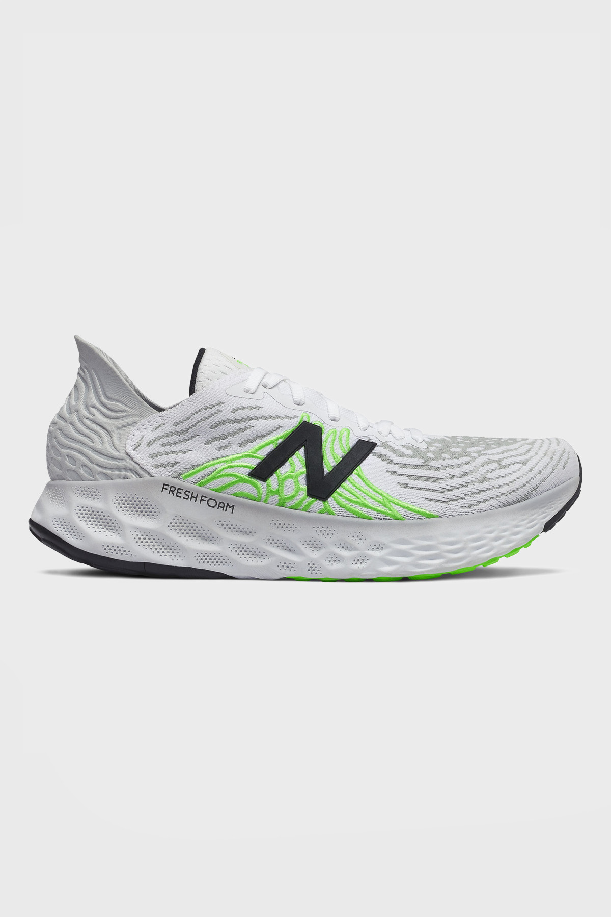 New Balance - 1080 V10 Fresh Foam X - White Energy Lime