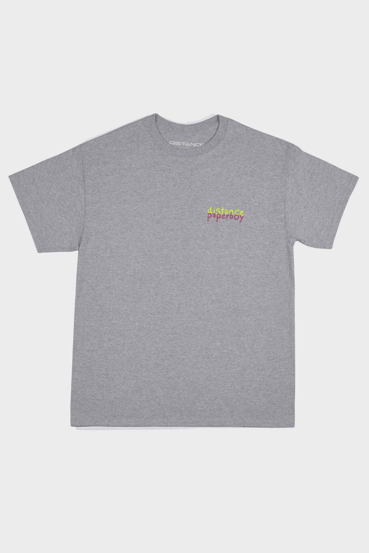 Distance x Paperboy - SS tee - grey