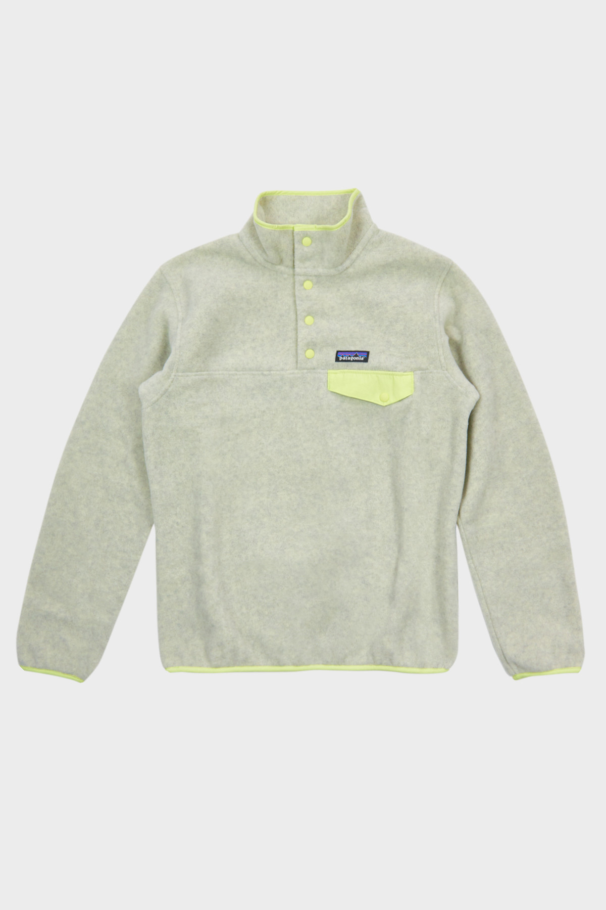 PATAGONIA - W Lightweight Synch Snap-T - OATMEAL JELLYFISH YELLOW