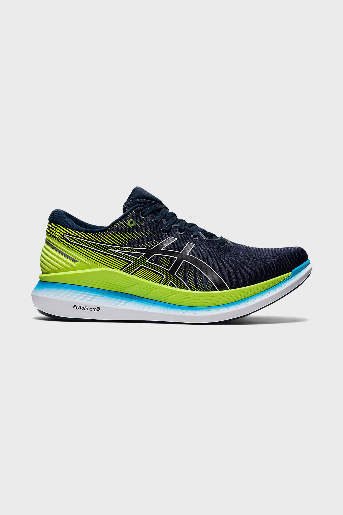 ASICS - GLIDERIDE 2 - FRENCH BLUE HAZARD GREEN