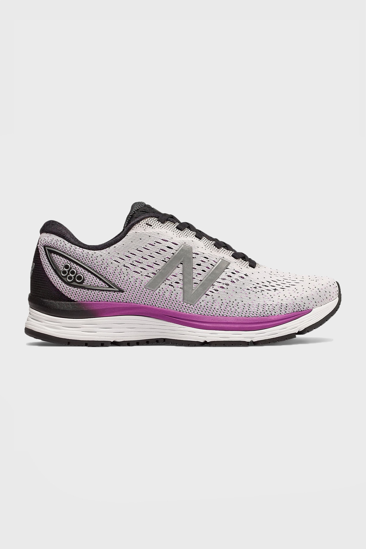 New Balance W - 880 V9 - White with Voltage Violet & Black