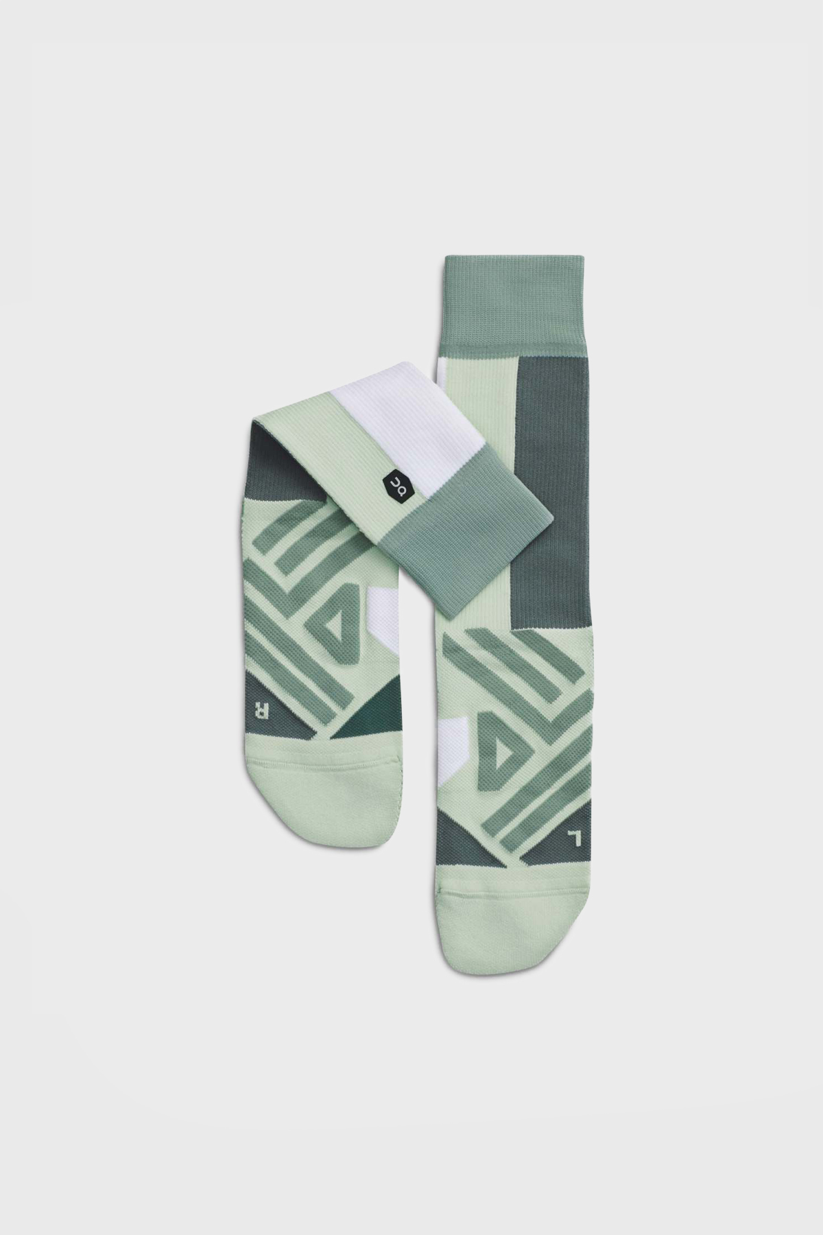 On - High Sock - Mineral white