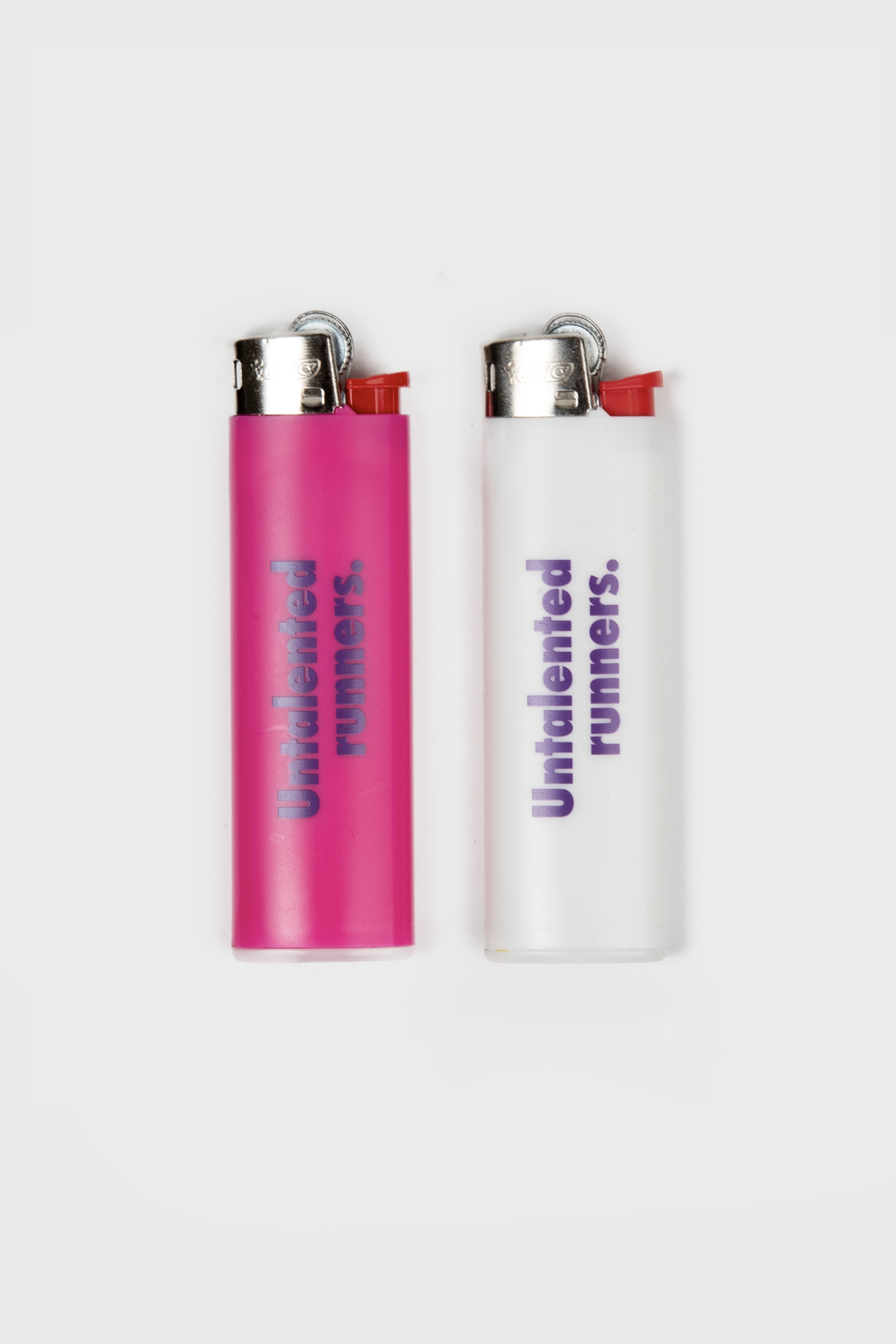 Jolie Foulée - Untalented Runners BIC lighter - White Pink
