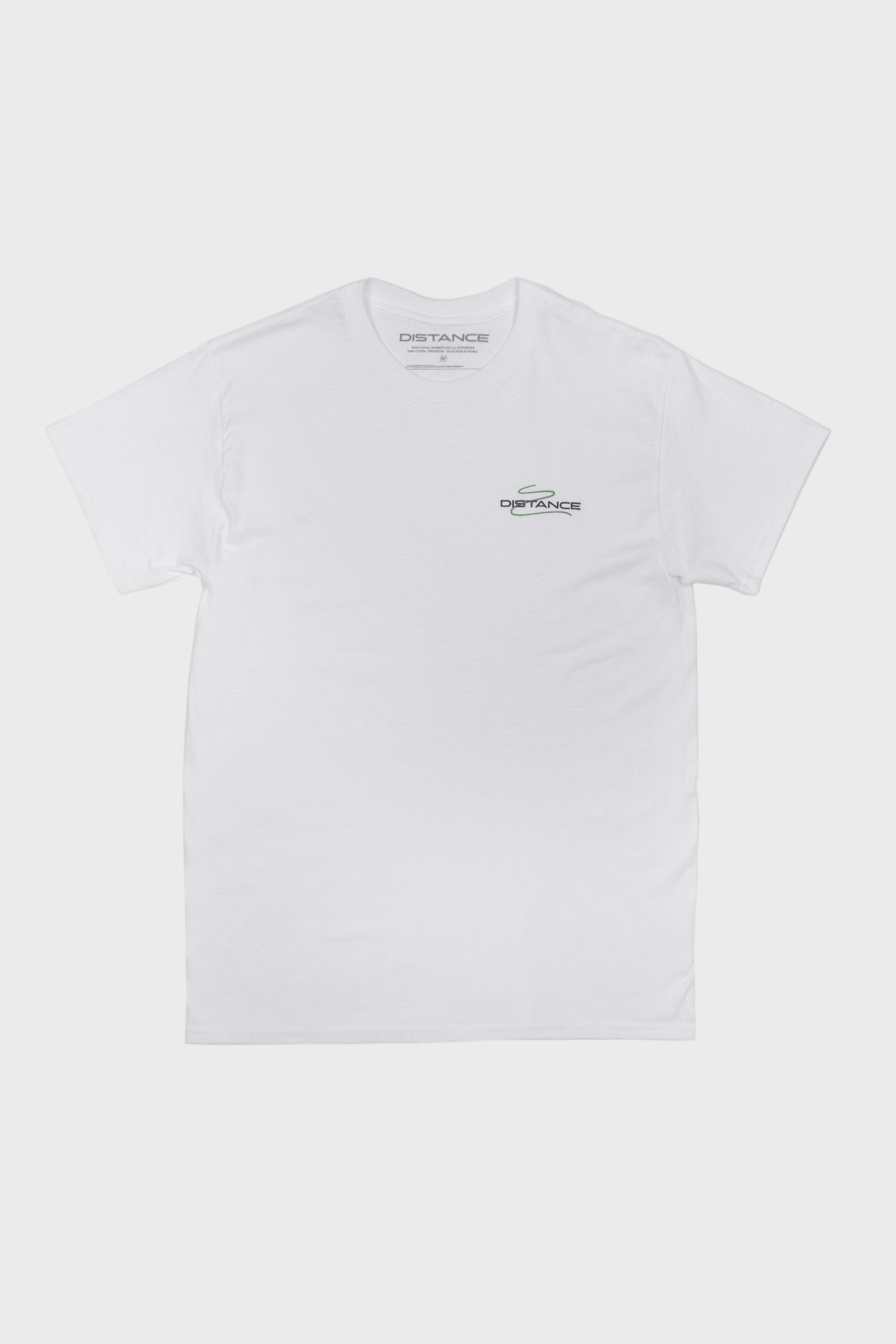 Distance - Squiggle Tee  - white Green