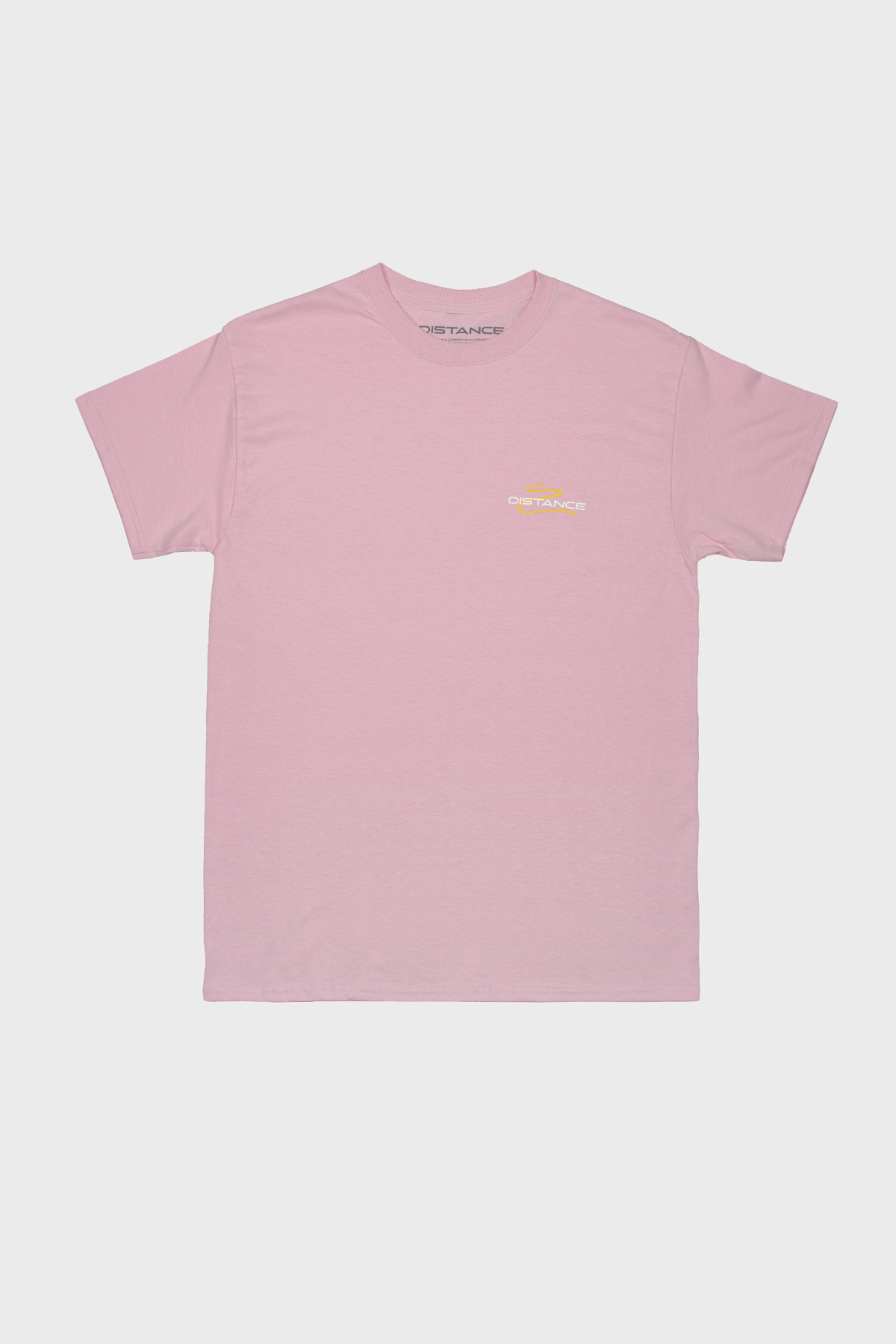 Distance - Squiggle Tee - Pink Yellow