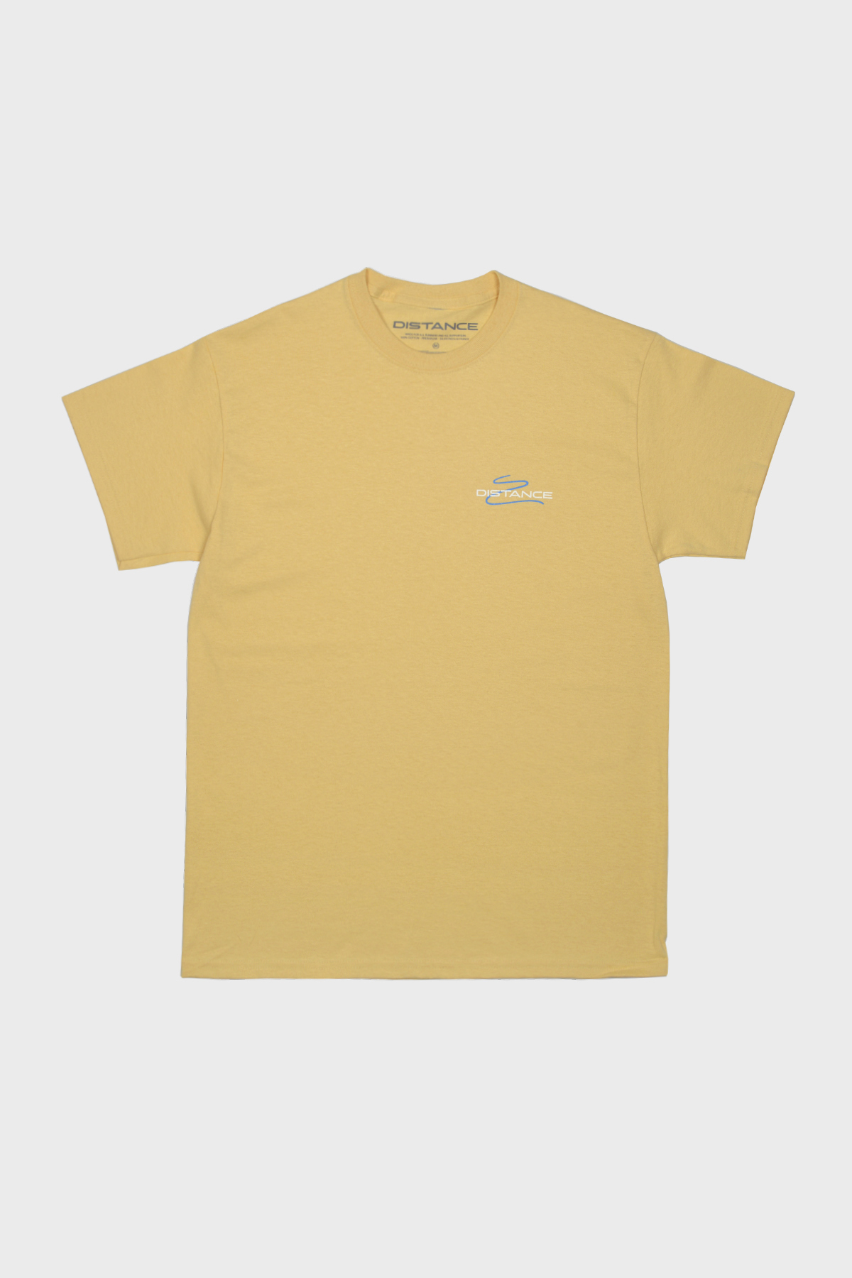 Distance - Squiggle Tee - Yellow Blue