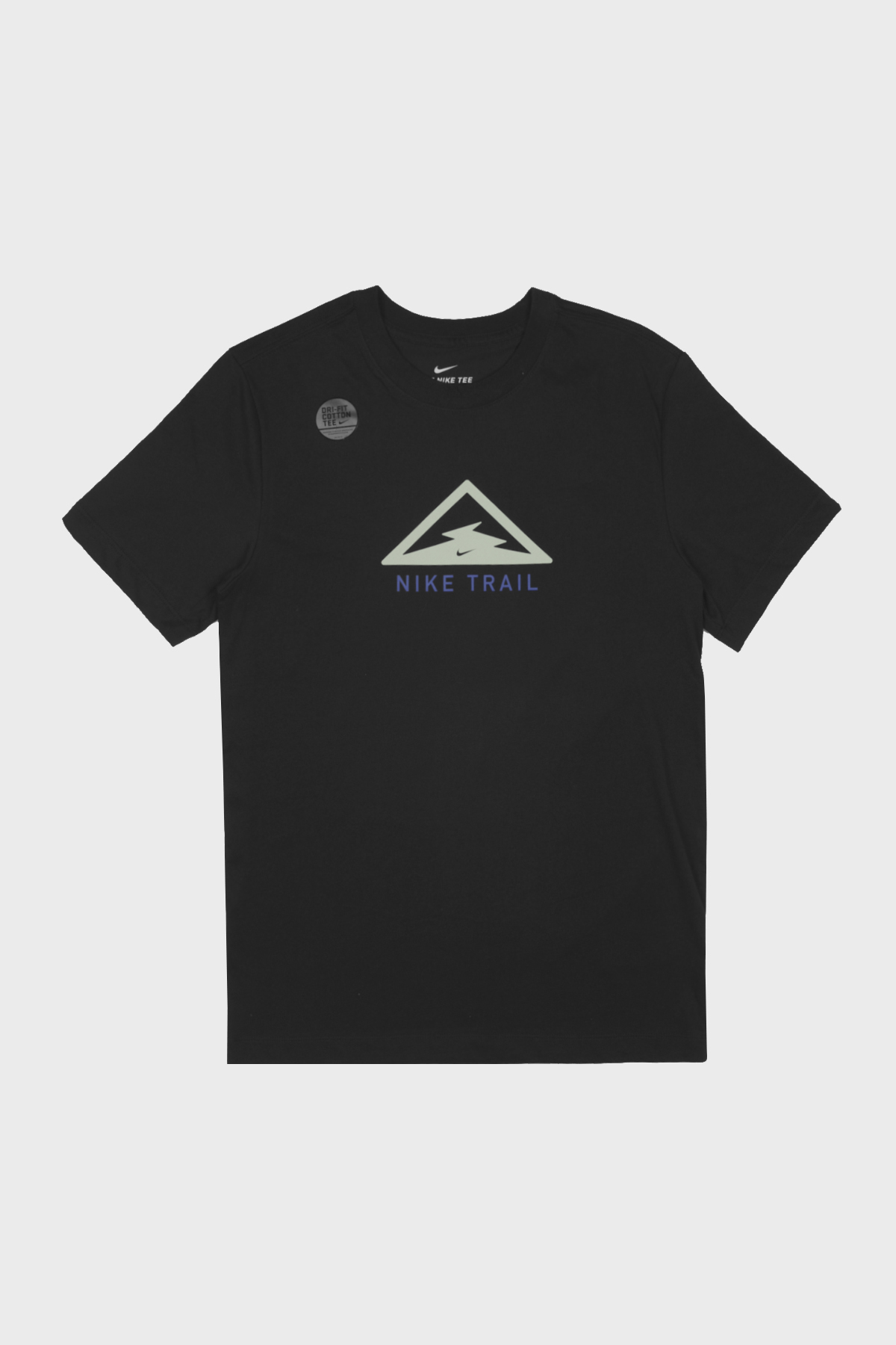 Nike - dry FIT tee trail - black pistache glacée