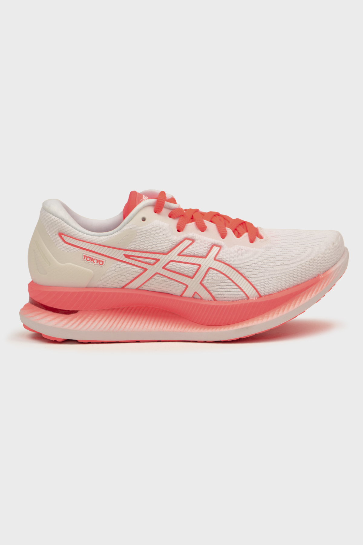 ASICS W - W GLIDERIDE - WHITE SUNRISE RED