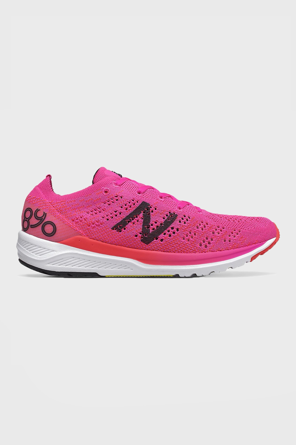 New Balance W - 890 V7 - Peony with Energy Red